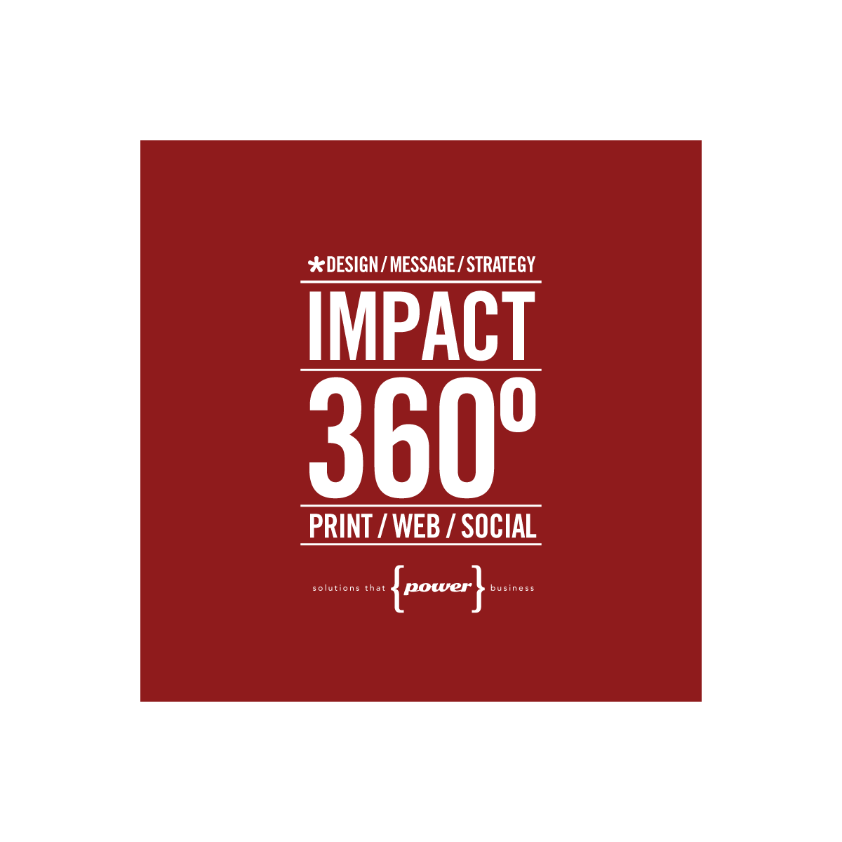 impact 360º typographic design development