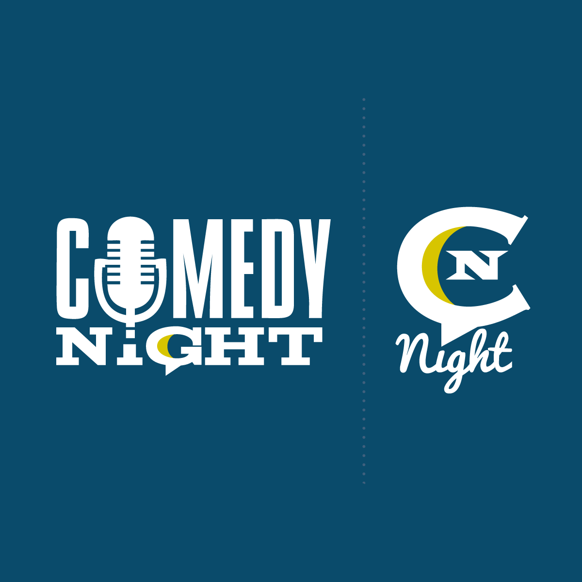 comedy night wordmark and icon