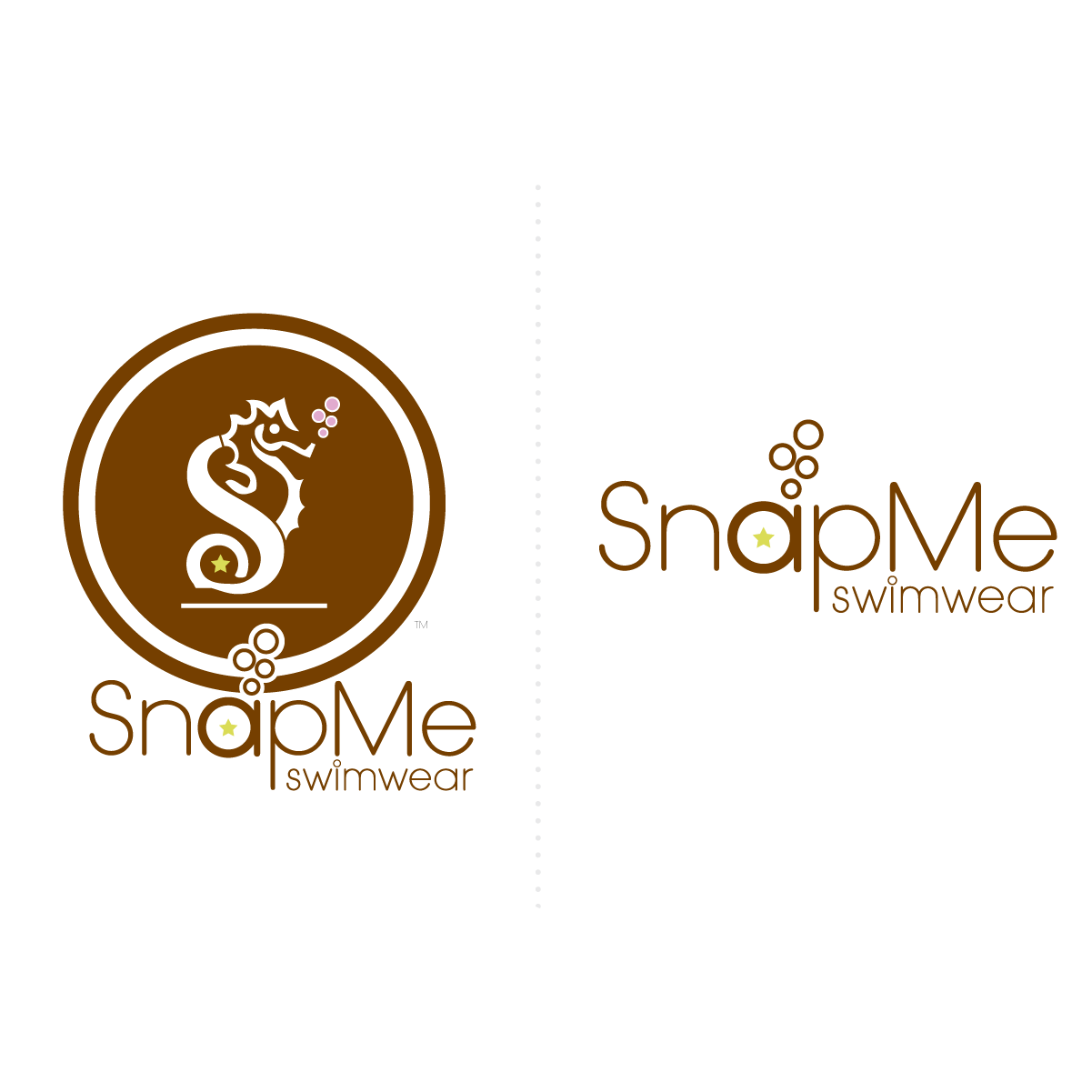 snapme swimwear logo wordmark